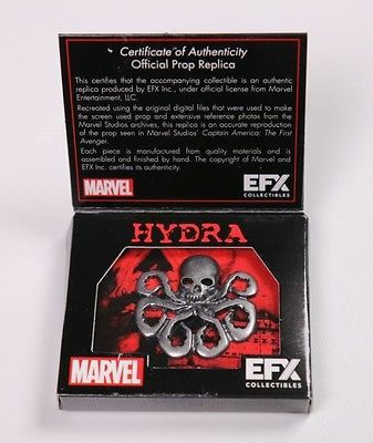 Captain America Hydra Pin Prop Replica - Efx Collectibles Loot Crate Exclusive