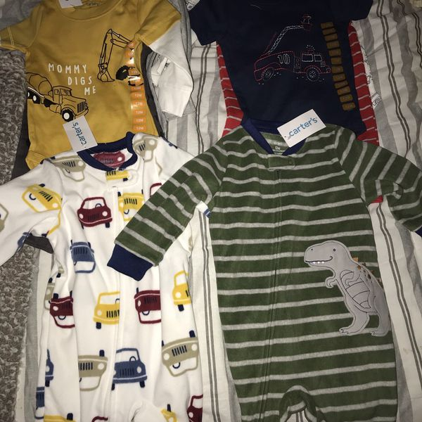 12 Month Carters Clothes / Snuggle Me Bundle