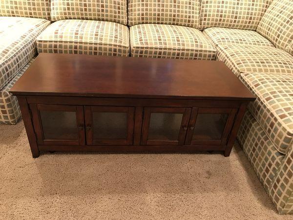 Lift up mahogany coffee table