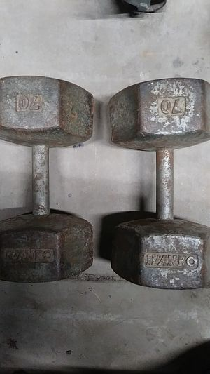 Old-school Ivanko. 70 pound dumbells for Sale in Modesto, CA
