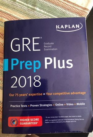 2018 Kaplan GRE study book for Sale in Hershey, PA