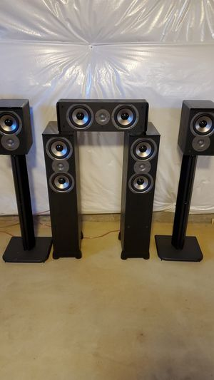 Polk Audio 5 channel surround sound setup for Sale in S HARRISN Township, NJ