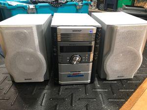 SHARP 200 watt 5 cd changer stereo system for Sale in Hackensack, NJ
