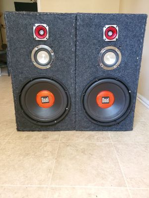 Dual speakers 12s, fair condition. Pick up only, no delivery. for Sale in Columbia, SC
