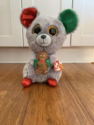 Christmas Mouse holding a Gingerbread Beanie Boo ty for Sale in Winter Springs, FL