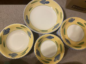 Set of 14: Dinner Plates/Bowls w/Serving Bowls for Sale in The Colony, TX