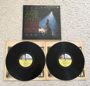 """Frank Sinatra with Count Basie Orchestra """"Sinatra At The Sands"""" double vinyl Lp 1966 Reprise Records Original 1st Press Mono -1Amatrix not a reissue for Sale in Aliso Viejo, CA"""