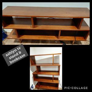 Ashlyn bookshelf and TV stand for Sale in Atlanta, GA