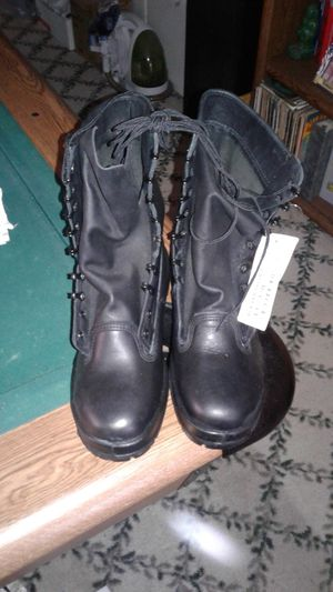 Boots, steel toe work. Black. Brand New for Sale in San Jose, CA
