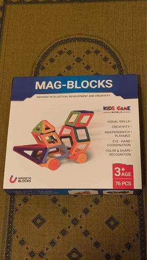 NEW 76 pieces Kids Game World Magnetic Building Blocks for Sale in Lawrenceville, GA