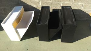 Plastic bins pulldown drawer on side (3) for Sale in San Diego, CA
