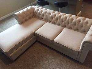 New overstuffed couch mid century modern sofa for Sale in Cleveland, OH