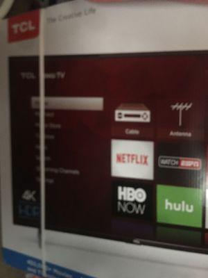 "55"" TCL 4k Roku TV for Sale in Detroit, MI"