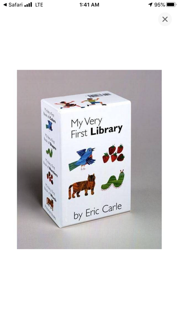 My Very First Library set, by Eric Carle