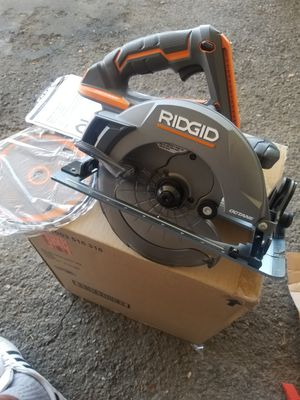 RIDGID 18-Volt OCTANE Cordless Brushless 7-1/4 in. Circular Saw (Tool Only) for Sale in Rialto, CA