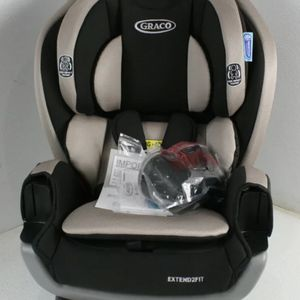 Graco Extend2Fit 3 in 1 Car Seat Stocklyn Beige & Black Reclining w Cupholders for Sale in Los Angeles, CA