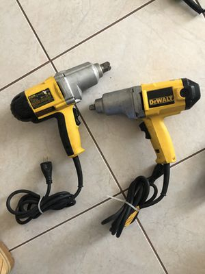 "Dewalt 1/2"" impact wrench electric DW290 and 3/4"" DW294 for Sale in Las Vegas, NV"