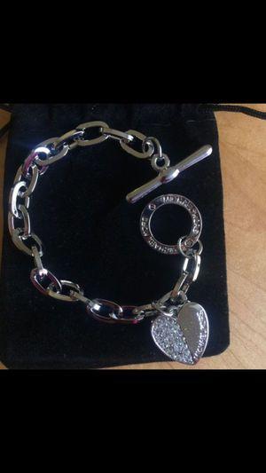 Mk Michael kors heart charm bracelet for Sale in Silver Spring, MD
