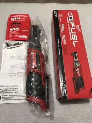 Milwaukee M12 FUEL 12-Volt Lithium-Ion Brushless Cordless 3/8 in. Ratchet plus (tool only) brand new for Sale in Fremont, CA