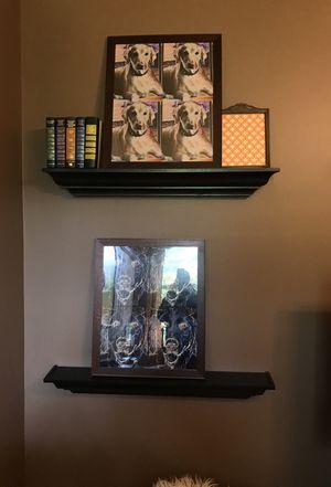 Pottery barn dark wood crown moulding shelves for Sale in Pompano Beach, FL