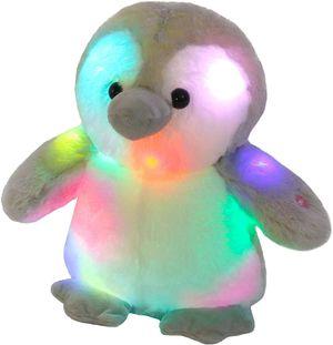 LED Penguin Glowing Night Light Stuffed Animal Soft Plush Toy Hugging Gift for Kids Boys Girls Birthday, 12'' for Sale in Houston, TX