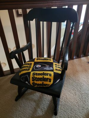 Steelers Wooden Kids Rocking Chair for Sale in Pittsburgh, PA