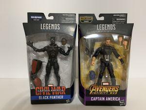 Marvel Legends Civil War Black Panther Infinity War Captain America for Sale in Middleburg, FL