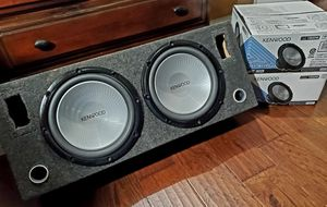 """2-12"""" Kenwood KFC-W12PS subwoofers with box for Sale in Riverside, CA"""