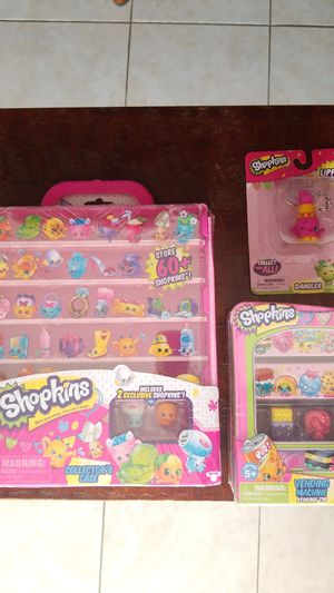 Shopkins collectors case, tin case, and key chain for Sale in San Leandro, CA