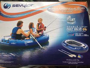 4 Man Inflatable Boat 7ft 8in X 4ft 7in Holds 600lb for Sale in West Linn, OR