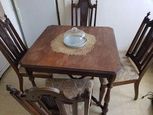 Antique wood kitchen table & 4 chairs for Sale in San Diego, CA