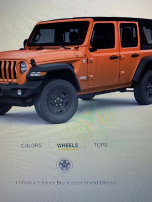 5 Brand New Jeep Wrangler JLU Michelin tires and wheels for Sale in Worcester, MA