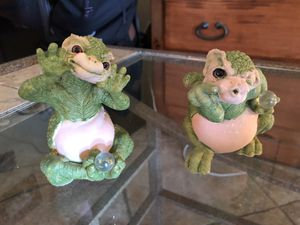 Precious moments dragon keep figurines (2) for Sale in Oceanside, CA