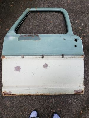 1967, 1968, 1969, 1970, 1971, 1972 F100/F250/F350 Driver's Side Door Hell (Green/Off-White) for Sale in Puyallup, WA