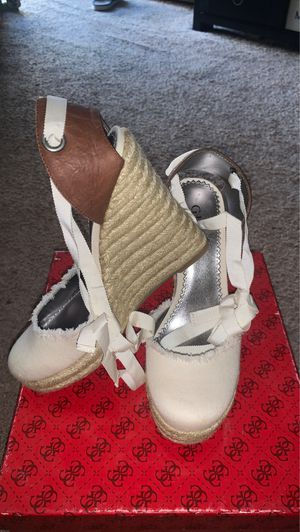 Brand New Guess Cream Wrap around Wedges for Sale in Gardena, CA