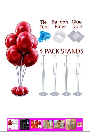 4 PCS Stable Table Balloon Stand for Sale in Sacramento, CA