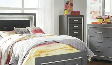 [SPECIAL] Lodanna Gray Youth LED Storage Bedroom Set for Sale in Washington,  DC