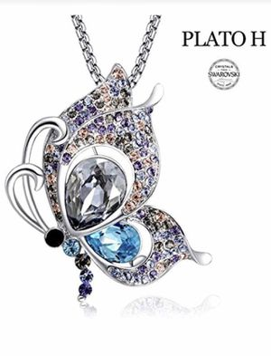 Brand new Butterfly Brooch Necklace with Swarovski Elements Crystals for Sale in Las Vegas, NV