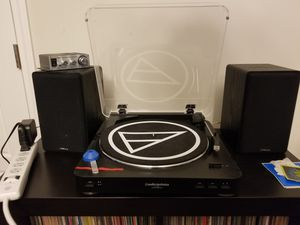 Audio technica AT LP 60 turntable plus speakers and preamp for Sale in Durham, NC
