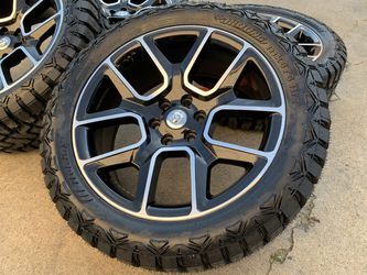 "22"" Dodge Ram 1500 Wheels OFFRoad MUD 33"" Tires Rims for Sale in Rio Linda,  CA"