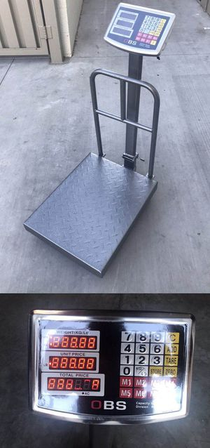 New 660 lbs capacity all metal steel commercial grade platform scale rechargeable weight LB and KG for Sale in Covina, CA
