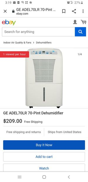 GE ADEL70LR DEHUMIDIFIER for Sale in La Puente, CA