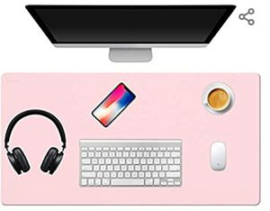 "TOWWI Desk Pad, 36""x17"" Leather Desk Mat Mouse Pad, Office Desk Accessories, Desk Writing Pad Blotter, Dual-Side Use (Blue/Pink) for Sale in Las Vegas, NV"