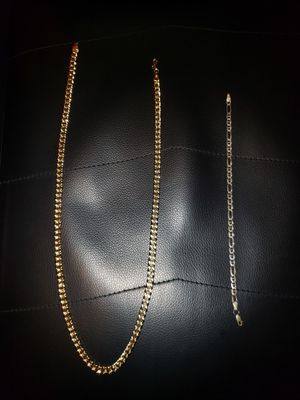 Gold chain and silver bracelet for Sale in Cahokia, IL