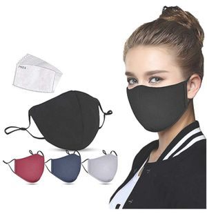 4 Pieces Unisex Face Bandanas with 8 Filters,Machine Washable,Reusable and Breathable Cotton Fabric,Indoors Outdoors for Sale in Grand Prairie, TX
