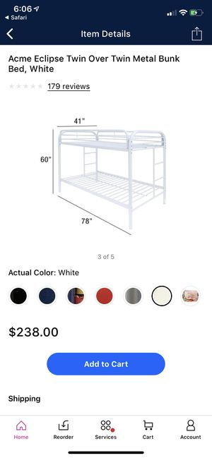 Bunk bed metal frame for Sale in San Diego, CA