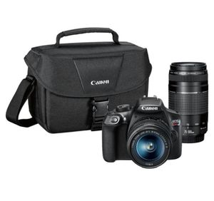 Canon - EOS Rebel T6 DSLR Camera with EF-S 18-55mm IS II and EF 75-300mm III lens - Black for Sale in Miami, FL