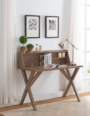 Computer/Office Desk with Electrical and USB Outlets, Hazelnut Finish for Sale in Santa Ana, CA