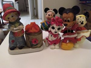 Collecetion of Porcelain figurines & 1 Walt Disney figurine( made of soft rubber < 1950's. for Sale in Phoenix, AZ