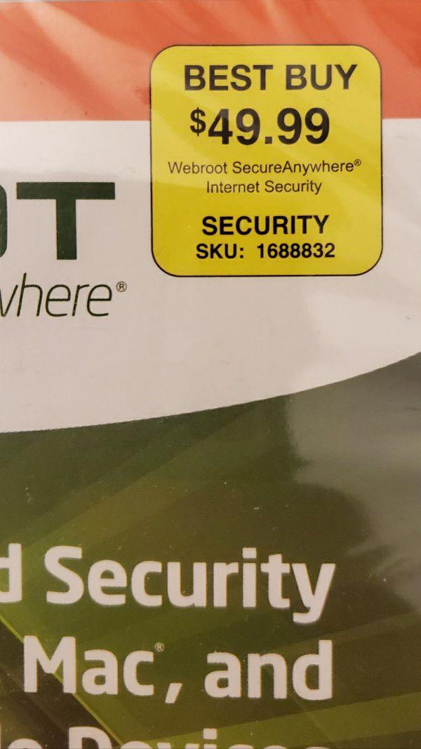WEBROOT - Anti VIRUS SOFTWARE